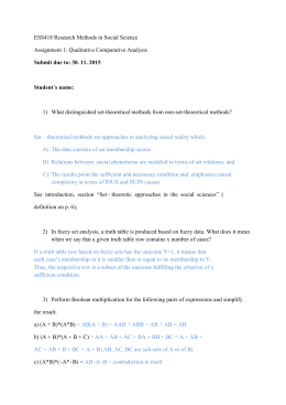 ESS418 Research Methods in Social Science Assignment 1