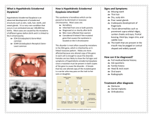 ectodermal dysplasia – dental calamity in your mouth