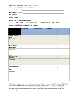 OPPE review form - UNM Medical Group
