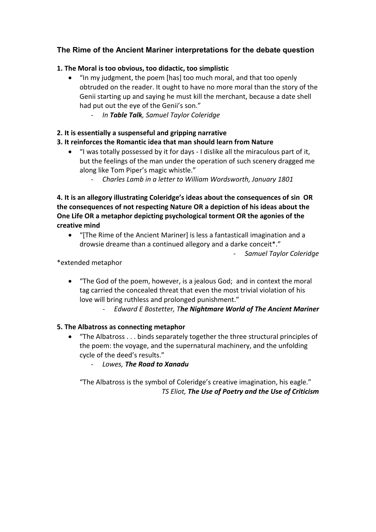 What Is A Thesis Statement In An Essay Examples  Personal Essay Samples For High School also Short English Essays For Students The Rime Of The Ancient Mariner Interpretations For The Debate Proposal Essay Template
