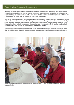 Teaching in a Monastic Environment
