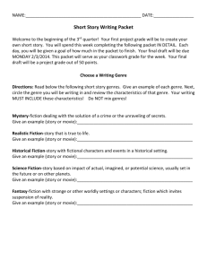 Short Story Writing Packet