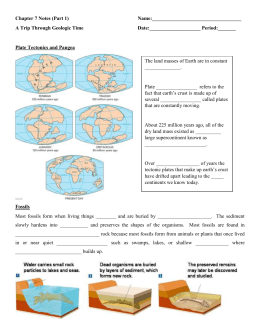 Chapter 7 Notes: A Trip Through Geologic Time