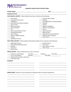 Surgeons Group Health History Form