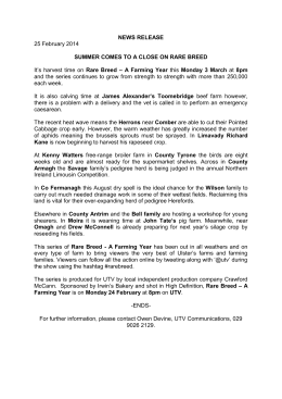 NEWS RELEASE 25 February 2014 SUMMER COMES TO A