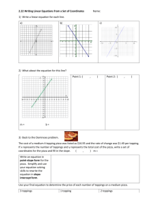 2.22 Writing Linear Equations CW