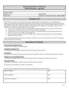Performance Appraisal Form for Staff 2015