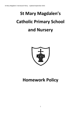 Homework Policy Sept 2015