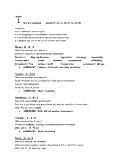 Nichols Science Week of 10-12-15 to 10-16-15 Standards: 6