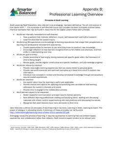 Appendix B: Professional Learning Overview