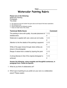 Watercolor Painting Rubric