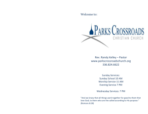 March 3, 2013 - Parks Crossroads Christian Church