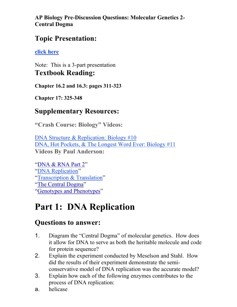 Dna replication questions to answer pooptronica
