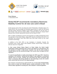 Global NCAP recommends mandatory Electronic
