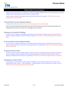 Future State Process Report Template