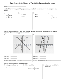 Geo-C-ws-A.3 Parallel and Perpendicular Lines