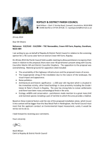 Letter to Planning Department to request an Environmental Impact