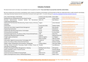 Industry Contacts - Federation for Industry Sector Skills & Standards