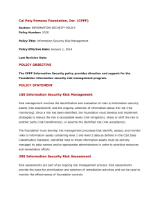 Policy Title: Information Security Risk Management