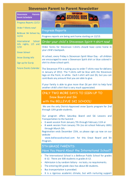 Stevenson Parent to Parent Newsletter