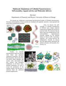 Self-assembly, Ligand activity and Molecular delivery