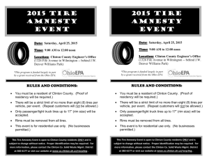 2015 Tire Recycling Event