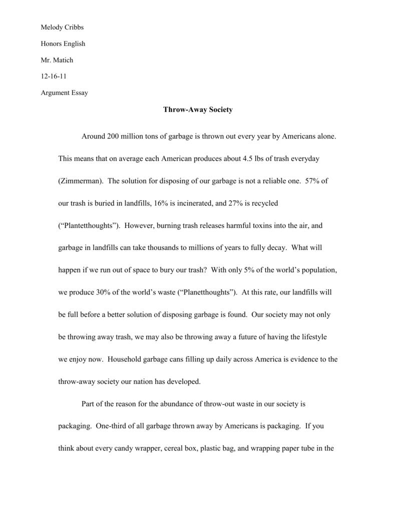 English~Argumentative Essay
