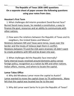 File the republic of texas homework guide-
