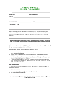 school of humanities honours proposal form