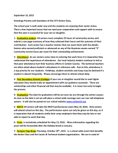 Senior Parent Letter Fall 2015 - Carbon Career & Technical Institute