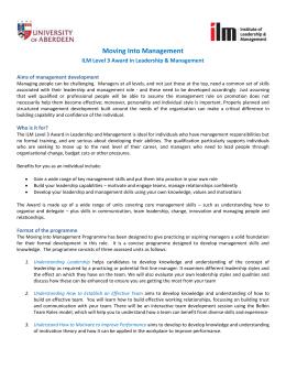 ilm level 3 assignment examples