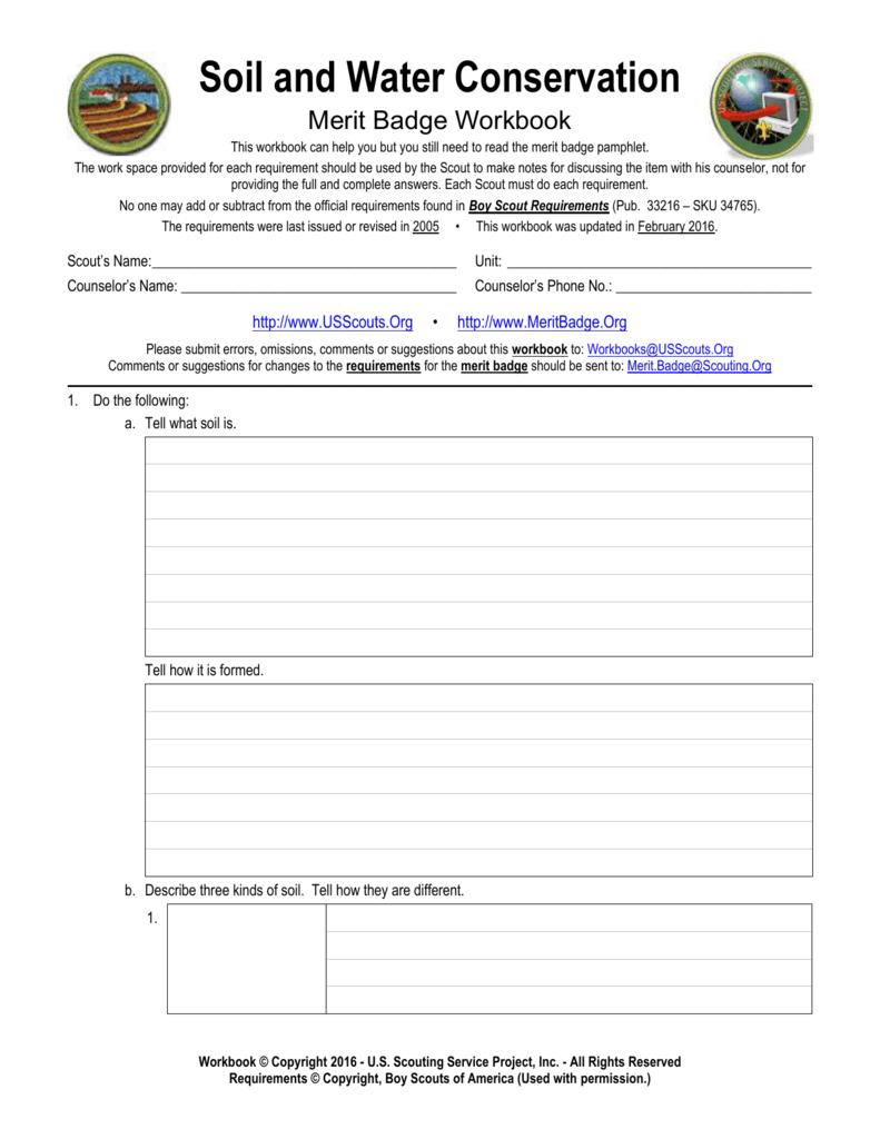 Gardening Merit Badge Workbook Answers - Garden Ftempo