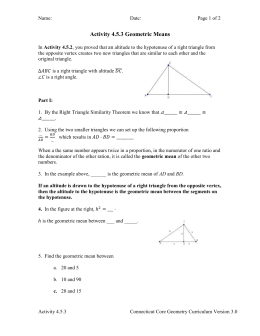 Activity 4.5.3 Geometric Means