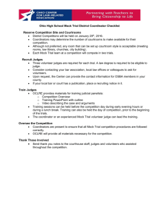 District Coordinator Checklist - Ohio Center for Law