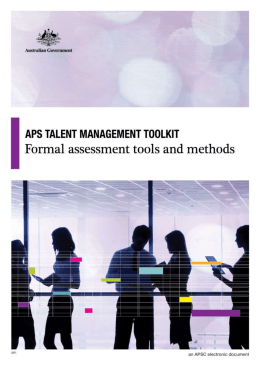 Formal assessment tools and methods