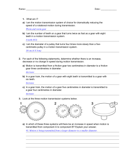 topic 14 gears worksheet. Black Bedroom Furniture Sets. Home Design Ideas