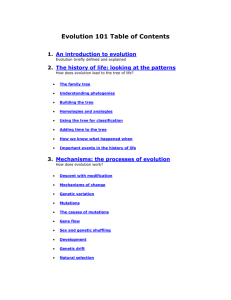 Evolution 101 Table of Contents 1. An introduction to evolution
