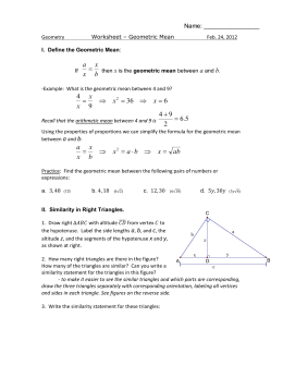 worksheet - geometric mean
