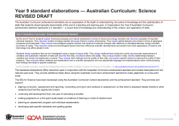 Year 9 Science standard elaborations (DOCX, 107 kB )