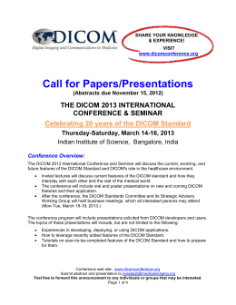 Call for Papers/Presentations