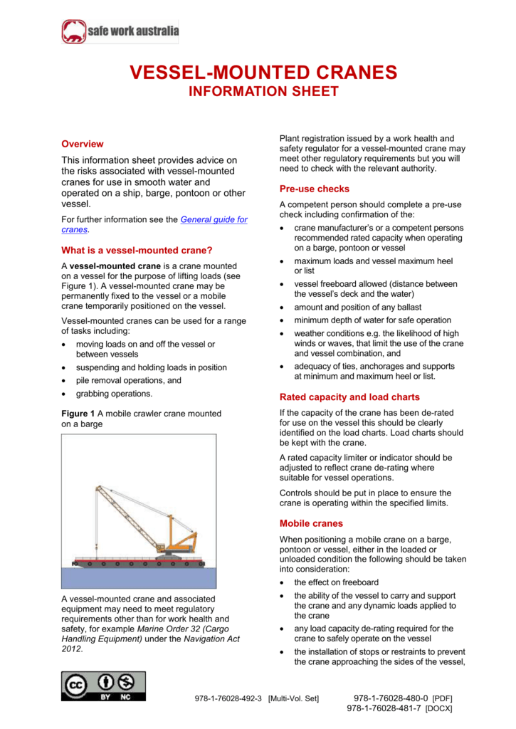 08  Vessel-Mounted Cranes Information Sheet