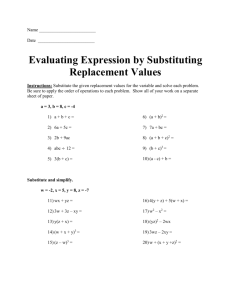 Evaluating Expression by Substituting Replacement Values (doc)