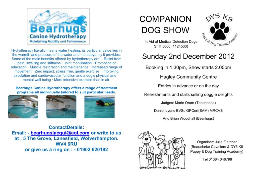 Hagley Community Centre - DY5 Puppy & Dog Training Academy