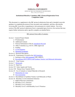 Supplemental Document - Office of Research Compliance