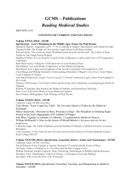 Contents of current and past publications