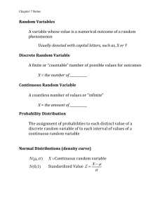 Mean of Discrete Random Variables