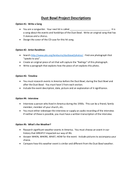 Dust Bowl Project Descriptions