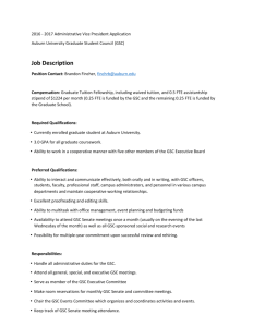 application and job description - Auburn University Graduate School