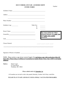 2015 4-H Horse Show Entry Form