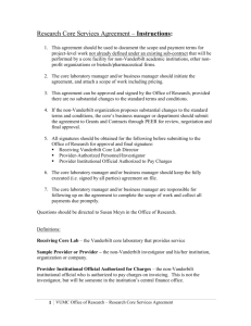 Standard Research Core Services Agreement